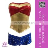 2015 Unique Design Wholesale Sexy Wonder Woman Costume Sexy halloween costumes for women