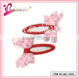 2014 Super hot sale kids hair accessories jewelry wholesale ribbon bow bobby pin (QRJ-0029)