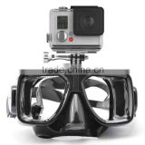 New shoot gopro Diving Mask swimming goggle camera masks for go pro /GitUp Git2 action cam