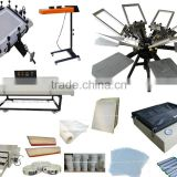 Multicolor 6 Color & Page and Screen Printer Aluminum Plate Type manual silk screen printer with all screen printing kits