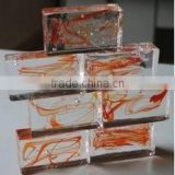 factory price new style tempered high quality building decorative raw crystal glass block