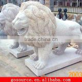 stone African lion sculpture