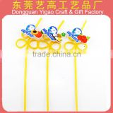 Factory custom Food Grade PVC DIY Crazy Drinking Straw /fancy drinking straw