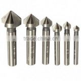 6pcs 3 flute 90 degree HSS Chamfer Cutter Chamfering Drilling Mill Drill Set Milling Cutting Tool Set