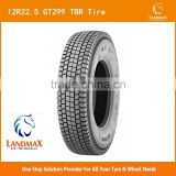 new tire truck wholesale tire/tyre for sale TBR tire GT299 12R22.5 with perfect performance