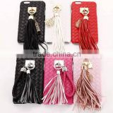 Luxury Vintage Tassel Metal Hook PU Leather Hard Mobile Phone Cover Case For iPhone 6 G 6S Plus