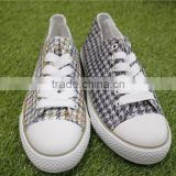 2016 fashion white canvas shoes wholesale new model flog