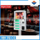 Customized Self service Wall mounted Wifi coin operated cell phone charging station APC-04B