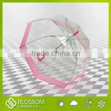 Transparent umbrella with custom print material and wholesale clear umbrella