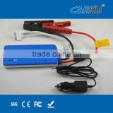 ultrathin 12v 22.2Wh Li-ion battery multifunction portabel jump starter can start the car and charging for mob / ipod / laptop
