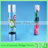 Sweet transparent plastic fresh flower bouquets packaging