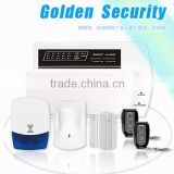 professional LED home intruder alarm system& PSTN wireless burglar alarm system remote monitor featured