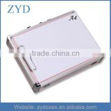 Cute Pink Tool Briefcase With Pocket And Clip, Portable Attache Case Aluminum ZYD-SM111305