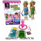 "DIY wool knit play set with 1pcs 11.5"" doll (solid body) toy wool knit play set for kids"