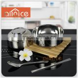 Allnice promotional stainless steel insulated bowl/PP and stainless steel rice bowl/cheap soup bowl
