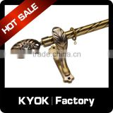 KYOK curtain eyelets decorative hardware curtain rods,chroming metal oval shower curtain rods