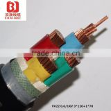 copper conductor XLPE insulated PVC sheath steel tape armoured LV MVunderground armoured power cables