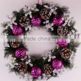 Wholesale artificial flower wreath christmas wreath for christmas day                                                                         Quality Choice