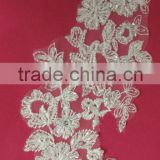 Embroidery Beaded Lace Appliques In Stock
