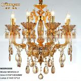Indoor Decorative Chandelier Light Modern Gold Glass Chandelier Home Chandeliers for Sale MD8525