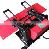 25*100cm manual heat press machine for ribbon/trousers/narrow goods / meshbelt customized printing
