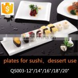 bone china japanese style long plates for sushi use ceramic rectangular plate