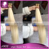 Wholesale Virgin Human prebonded blonde fusion i tip hair extensions 1g/pc for white women