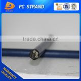 1*7wire 15.2mm unbonded steel strand PE coated PC strand