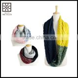 hot selling fashion warm infinity loop knitted scarf