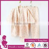 2015 New Arrival Water Transfer Printing,100% Cotton Fabric Custom gauze cotton bathrobe set