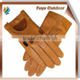 Fashion TAIWAN Short Brown Pig skin Plain Style Unlined Gloved Women Leather Womens Gloves