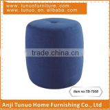 Pouf,Cute,Round,Cotton ottoman,1 button on top middle,2 leather handles on sides,TB-7508