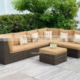 Patio Garden Sectional Sofa Set Furniture- High Quality Wicker Rattan Sofa Outdoor Furniture Sofa Set with L shape