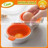 Double Layer Egg Poachers Poached Baking Cup Poach Pods Egg Tools Microwaveable Steamed Egg Bowl