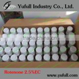 Rotenone 2.5% EC 95% TC, Insecticide organic pesticides CAS 83-79-4 Light yellow Rotenone 2.5%EC