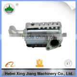 exhaust muffler for tractor engine