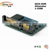 1GB~32GB SATA DOM (Disk on Module) 4 Channles