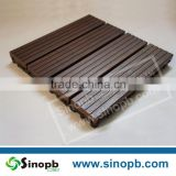 Bamboo Deck Tiles Strand Woven Bamboo Flooring with Plastic Mat