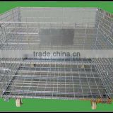 warehouse storage mesh cage with middle board Image