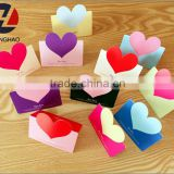 Cute promotion creative heart shape creative design invitation card greeting card for parties