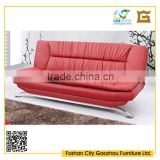Contemporary design metal frame red color sectional sofa bed sets sleeping multi-function sofa bed