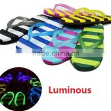 summer women fashion outdoor evening beach custom cheap Luminous flip flops factory sandals shoes