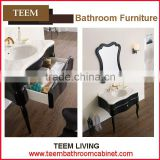 Teem bathroom furniture Stainless steel carcase material bath vanity unique white pvc bathroom cabinets furniture