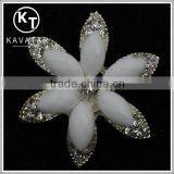 Best selling crystal pearl beads chaton button