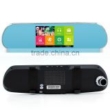 Electric Bluetooth Rearview Mirror Manual with Wifi Camera HD DVR Recorder GPS Navigation