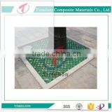 supply fiberglass plastic FRP/composite/GRP tree grating/grate fiberglass sheet tree well grates plastic grating