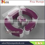 10 by 8 feet customized new design jewelry kiosk design / jewelry display showcase in mall for sale