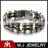 heavy and study mens fancy bike chain bracelet stainless steel silver gold black high polished bracelet