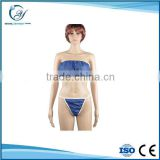 disposable massage ladies sexy panty and bra set