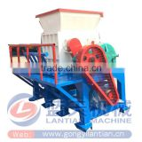 China made CE ISO approved recycling pet bottle metal scrap double shaft shredder crusher machine